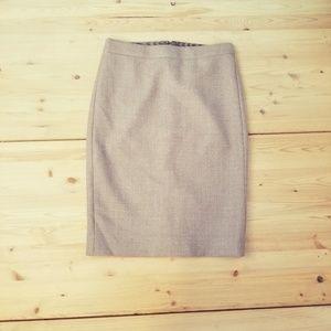 J. Crew No. 2 pencil skirt, NWOT, sz00
